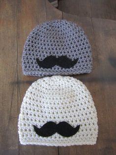 Newborn Baby Boy Photo Prop Mustache Hat. $23.00, via Etsy.