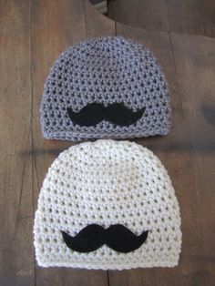 Newborn Baby Boy Photo Prop Mustache Hat. $23.00, via Etsy.