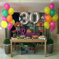 Party decorations for adults women birthday new Ideas 30th Party, Neon Party, 30th Birthday Parties, Anniversary Parties, 30 Birthday, Birthday Celebration, Graduation Decorations, Birthday Party Decorations, Festa Party