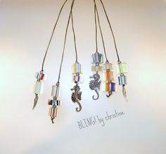 One lot of glass cane beaded bookmarks by blingbychristine on Etsy