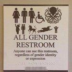 Image result for all gender restroom sign