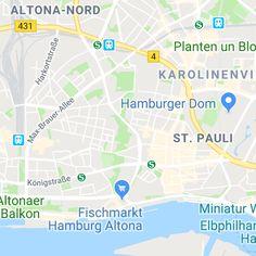Hamburg für Verliebte - Die romantischsten Orte für Tag und Nacht Hotels, Two Hands, Hamburger, Map, Second Hand, Most Romantic Places, In Love, Night, Tips