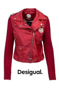 Leather look-a-like Coca Cola print Red Pattern, Pattern Print, Jackets For Women, Clothes For Women, Couture, Color Red, Washing Machine, Leather Jacket, Composition