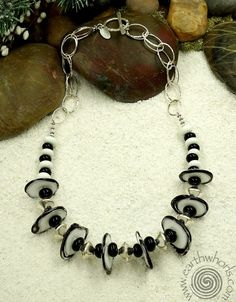 Handmade Glass & Sterling Silver Necklace