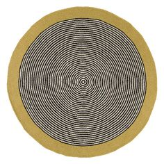Gold Metallic Stripe Rug – La De Dah Kids