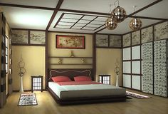 Unique Japanese Bedroom for Your Home. Japanese bedroom design style has unique characteristics. Japanese interior is about how to design the space that blends with nature. Modern Japanese Interior, Japanese Interior Design, Japanese Home Decor, Asian Interior, Asian Home Decor, Asian Design, Interior Ideas, Modern Asian, Japanese Modern