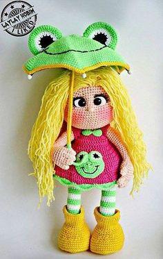 Amigurumi Şemsiyeli Kız Yapılışı , #AmigurumiDoll #amigurumifreepattern #amigurumioyuncakyapımı #amigurumiyapımıanlatımlı , Sizlere beğeneceğinizi düşündüğümüz güzel bir amigurumi bebek yapımı hazırladık. Bebeğin yapılışı mevcut anlatımda. Ücretsiz amig... Crochet Doll Pattern, Crochet Dolls Free Patterns, Stuffed Toys Patterns, Doll Patterns, Crochet Girls, Crochet For Kids, Crochet Fairy, Cute Crochet, Crochet Toys