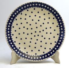 "10"" Dinner Plate (Seeing Stars) from The Polish Pottery Outlet"