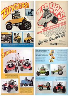 Just A Car Guy : Zingers! (that is what they are called) Built in the early 70's they were used as promotion in the ISCA hot rod shows.