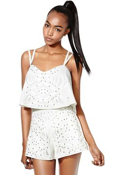 Nasty Gal Collection Virtue and Vice Embroidered Shorts | Nasty Gal
