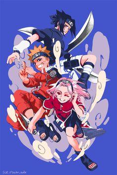 Anime: Naruto <Don't forget to support the artist> Anime Naruto, Naruto Sasuke Sakura, Naruto Cute, Naruto Shippuden Sasuke, Itachi Uchiha, Sakura Haruno, Otaku Anime, Manga Anime, Kakashi