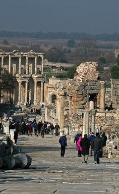 Ephesus, Turkey. Amazing to walk through such ancient city ruins. So much history