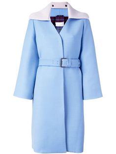 MAISON MARGIELA knitted collar belted coat. #maisonmargiela #cloth #coat