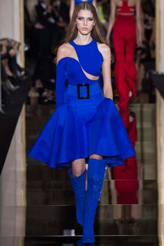 Atelier Versace #spring2015couture #atelierversace #blue #kneehighboots #sabinalobova #feelingfashion