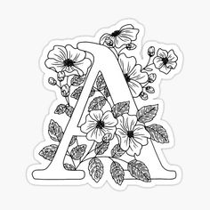 Alphabet Coloring Pages, Coloring Book Pages, Printable Coloring, Coloring Letters, Flower Coloring Pages, Coloring Pages For Kids, Adult Coloring, Coloring Set, Free Coloring