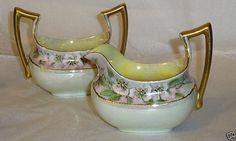 Limoges Art Deco Cream & Sugar Set Limoges by JewelsSimpleVintage, $25.00