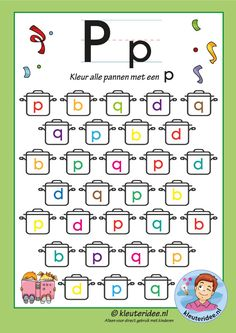 Preschool and Kindergarten Alphabet & Letters Worksheets Letter P Worksheets, Letter P Activities, Pre K Activities, Hidden Picture Puzzles, Letters For Kids, Lower Case Letters, Kids Education, Lettering, Free Printable