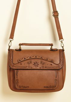 Leave Your Mark Bag in Toffee. Your daily ensembles are unforgettable and this crossbody bag makes them wonderfully trendsetting and totally you! #brown #modcloth