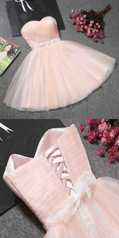 long prom dresses - Fantastic ALine Champagne Tulle Strapless Homecoming Dresses With Dama Dresses, Quince Dresses, Hoco Dresses, Formal Dresses, Wedding Dresses, Gown Wedding, Sweet 16 Dresses, Pretty Dresses, Beautiful Dresses