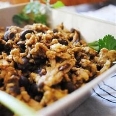 Middle Eastern Rice with Black Beans and Chickpeas - Add a chopped apple and maybe raisins.