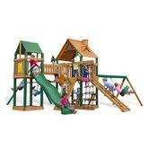 Found it at Wayfair - Gorilla Playsets Pioneer Peak Swing Set with Wood Roof Canopy