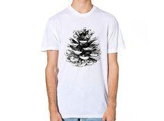 Pine Cone T Shirt Mens T-shirt T Shirt Men T by JoellesEmporium