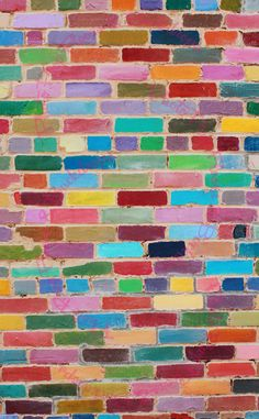 Photo about Rainbow painted brick wall building. Painted Brick Exteriors, Painted Brick Walls, Diy Photo Backdrop, School Murals, Images Of Colours, Jewelry Wall, Rainbow Painting, Art Drawings For Kids, Brick Wallpaper