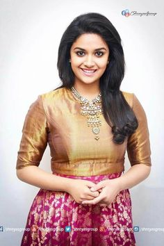 Mana Keerthy Suresh: Keerthy Suresh in Brown Color Dress with Cute Smile Latest Image Thing 1, Most Beautiful Indian Actress, Anarkali Dress, South Indian Actress, Hot Dress, Celebrity Look, Indian Designer Wear, India Beauty, Indian Dresses