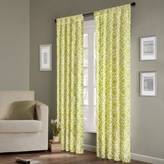 Delray Diamond Rod Pocket Curtain Single Panel for Sale | Wayfair