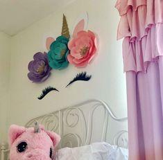 35 Amazingly Pretty Shabby Chic Bedroom Design and Decor Ideas - The Trending House Unicorn Baby Shower Decorations, Diy Unicorn Party, Unicorn Birthday, Unicorn Decor, Decoration Birthday, Decoration Bedroom, Diy Room Decor, Home Decor, Unicorn Pillow
