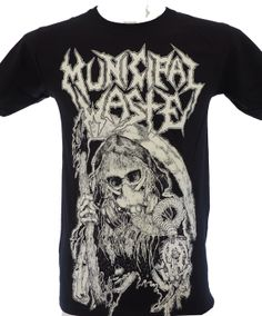 """Brand:Anvil - Front Print: Yes - Back Print: YES  MUNICIPAL WASTE is a crossover thrash metal band from Richmond, Virginia. They performed at the UK's Download Festival on June 15, 2008. They also joined At the Gates on their """"Suicidal Final Tour"""" along with Darkest Hour, Toxic Holocaust and Repulsion. The group's fifth album, The Fatal Feast, was released in April 2012 through Nuclear Blast. In 2010, the band was confirmed as being part of the soundtrack for Namco Bandai Games' 2010 remake…"""