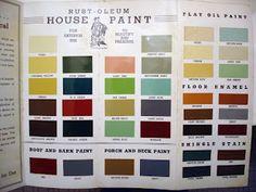 The Box House: Original 1930s Paint colors