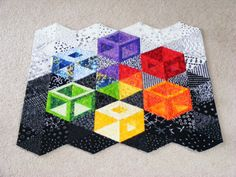 hollow cube quilt - Google Search