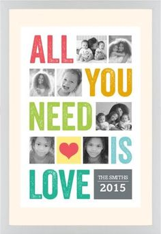All You Need Is Love Framed Print, White, Contemporary, Cream, Cream, Single piece, 20 x 30 inches
