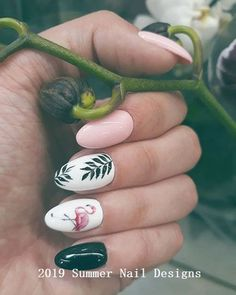 pink Flamingo nailspinapple and flamingo nails Flamingos spring summer nail art Tropical Nails Tropical Nail Designs, Cute Summer Nail Designs, Cute Summer Nails, Nail Summer, Nail Art Ideas For Summer, Summer Holiday Nails, Tropical Nail Art, Summer Makeup, Spring Nail Art
