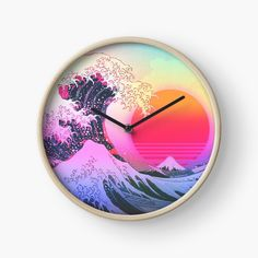 Great Wave Vaporwave Retro Aesthetic by ind3finite | Redbubble