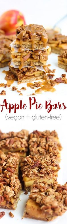 The classic apple pie gets a delicious, vegan makeover in these Apple Pie Bars! A soft crust, fresh apples & crisp topping makes these perfect for any time.