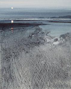 Naomi Tydeman Monkstone Point from Saundersfoot Watercolor Landscape Paintings, Landscape Artwork, Watercolor Artists, Watercolor Techniques, Abstract Watercolor, Abstract Art, Watercolor Trees, Watercolor Portraits, Abstract Paintings