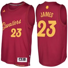 1347ec715a6867 Men s 2016-17 Christmas Day LeBron James Cavaliers Burgundy Jersey Nba  Swingman Jersey