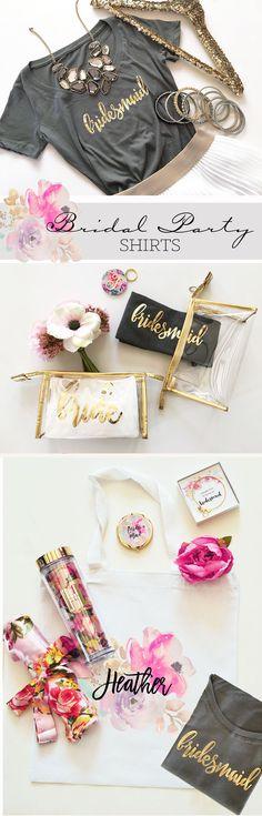 Bridesmaid Shirts | Bridal Party Shirts | Bridesmaid T Shirts | Bachelorette Party Shirts | Bridesmaid Gifts