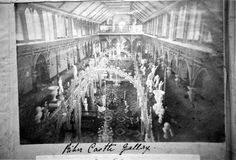 Riber Castle grand salon from the gallery.