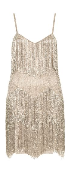 Besides a 1920s party, I don't know where I'd ever wear this, but I love it! Beaded fringe dress