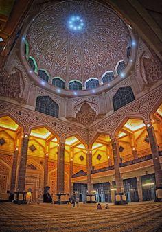 Interior of Putrajaya Mosque, Malaysia
