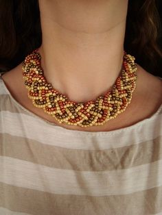 4-string braid turned into necklace