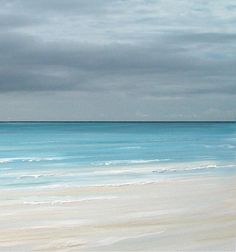 Beach ocean coastal painting art print, blue seascape painting print, tropical art  by Francine Bradette-FREE S