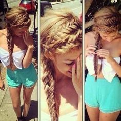 Stunning Braided Hair Style for Long Hair: Girls Hairstyles for Summer