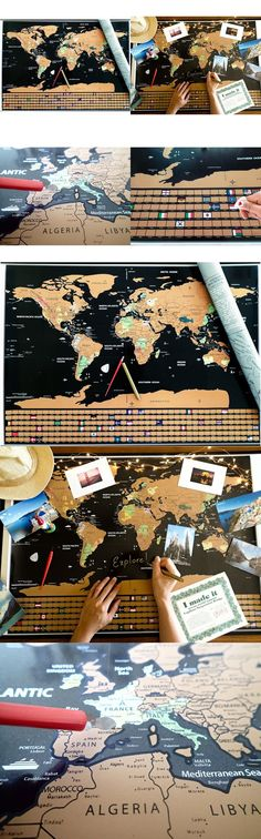 Other travel maps 164807 scratch off world map deluxe other travel maps 164807 scratch off world map deluxe personalized travel map poster xxl buy it now only 4499 on ebay pinterest gumiabroncs Gallery