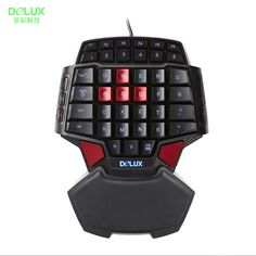 Delux T9 Professional Gaming Keyboard LED Backlight Double Space CF CS LOL  one hand USB Wired Mini Portable Game Key Board