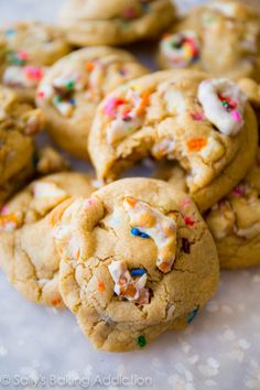 White Chocolate Covered Pretzel Cookies - soft-baked, sweet, salty, sprinkles, perfect.