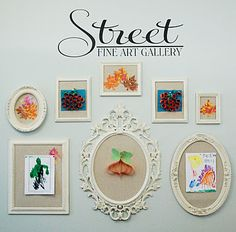 love this charming approach to hanging kids' artwork :)